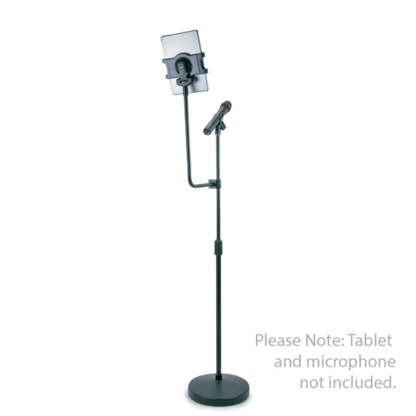 Universal Tablet Floor Stand and Microphone Holder No Colour