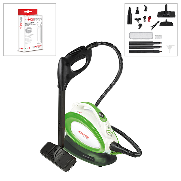 Polti Vaporetto Handy 25 Plus Steam Cleaner + Kalstop (20 pk) No Colour