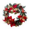 Medium Christmas Wreath (15 LED Lights) Red And Gold