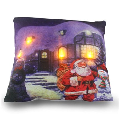 Santa Visit LED Cushion 45x45