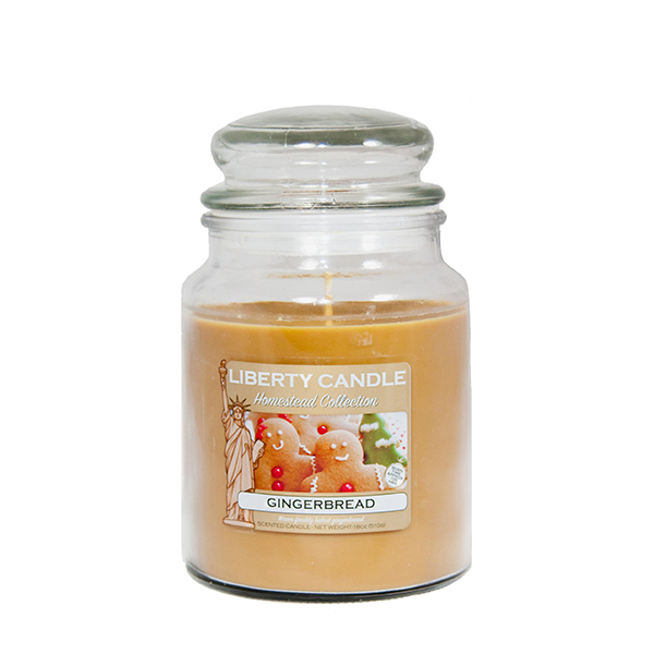 Liberty Candles Homestead Collection 180z Jar Gingerbread