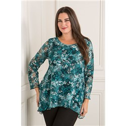 Emelia Floral Side Dip Hem Top