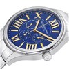 Stuhrling Original Gents Watch with Stainless Steel Strap and Blue Dial Blue