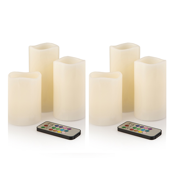 Starlight Colour Changing 6 Piece LED Candles Set With Remote Control No Colour