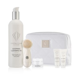 Crystal Clear Ionic Sonic Cleansing Kit in White Bag with Cleansing Gel 400ml