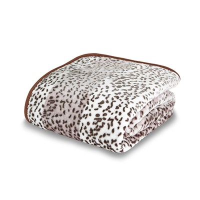 Giraffe Animal Print Mink Design Throw 200 x 240cm