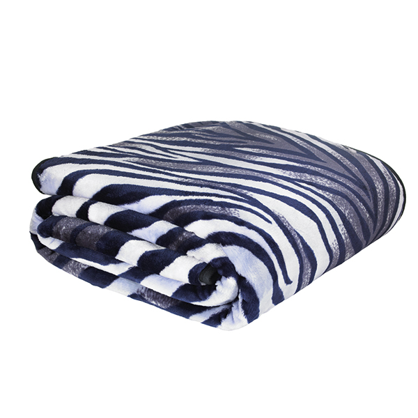 Zebra Animal Print Mink Design Throw 200 x 240cm No Colour