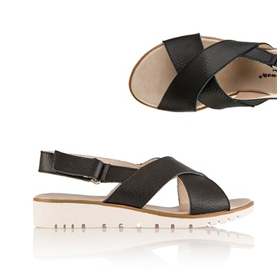 Cushion Walk Comfort Leather Slider Sandal