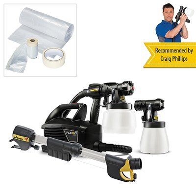 Wagner Universal Sprayer W699 Flexio with Universal Masking Kit and Handle Extension