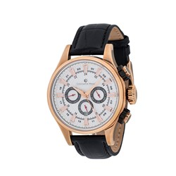 Constantin Weisz Gents Automatic Watch with Stainless Steel Case and Genuine Calf Leather Strap