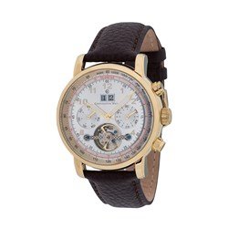 Constantin Weisz Gents Automatic Watch with Genuine Brown Calf Leather Strap