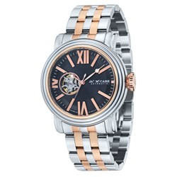 James McCabe Victory Gents Open Heart Automatic Japanese Movement with Stainless Steel Bracelet Strap