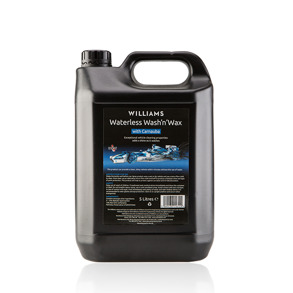 Williams Waterless Wash and Wax 5 Litre Jerry Can No Colour