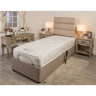 Sleep Genie Adjustable Bed and Headboard Hessian Finish 3 Ft Single