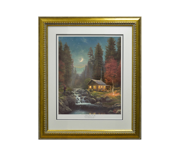 Thomas Kinkade Away From It All Limited Edition Framed Print No Colour