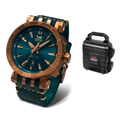 Vostok Europe Gent's Energia Rocket with Bronze Case, Interchangeable Straps and 4 Slot Collectors Dry Box