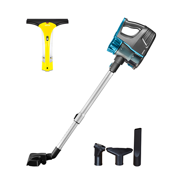 PIFCO Rechargeable 22.2V Cordless Vacuum with Complete Home Accessories and Pifco Window Cleaning No Colour