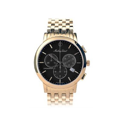 Mathey-Tissot Gents Sport Classic Chronograph Watch with Gold Plated Bracelet
