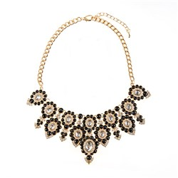 Just Be You Diamante Statement Necklace