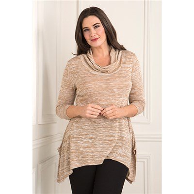Daisy Eldridge Marl Cowl Neck Top