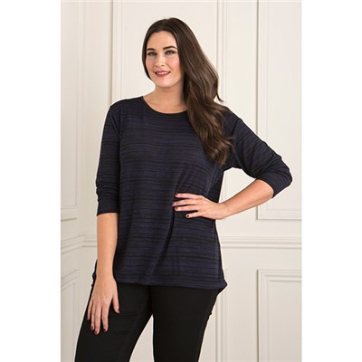 Daisy Eldridge Marl Dip Back Tie Top
