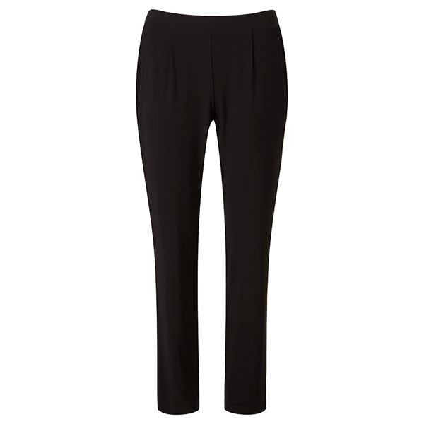 Lavitta Tapered Leg Jersey Trousers 29in Black
