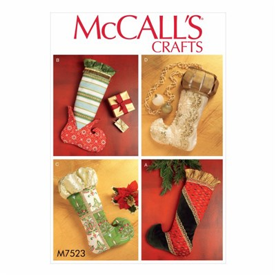 McCall's Pattern M7523 -  Christmas Stockings in Four Styles