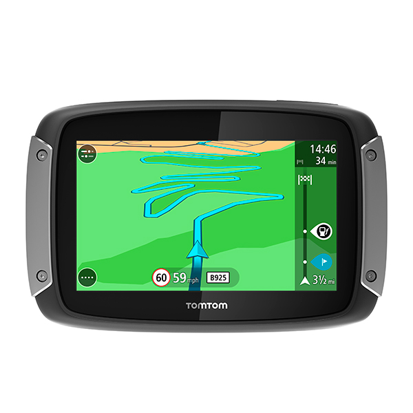 TomTom Rider 400 with Lifetime Update Western EU Maps RAM Mount Kit & Charge Cable 388855
