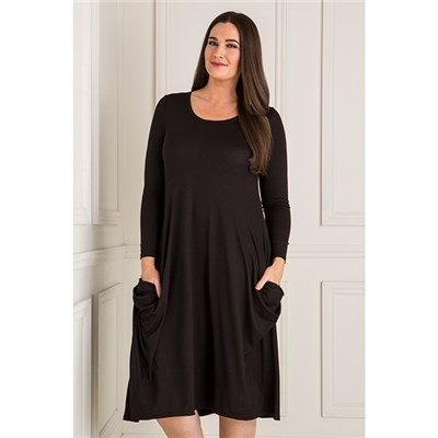 Emelia Side Drape Pocket Dress