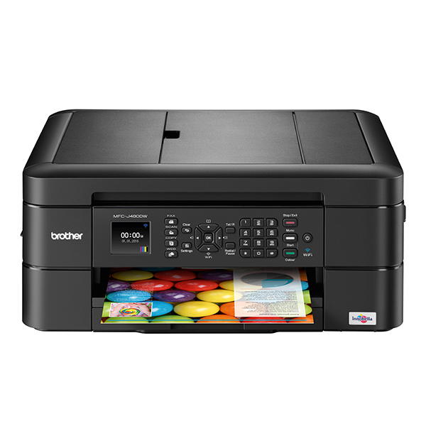 Compact A4 allinone colour Inkjet Printer with Fax MFCJ480DW 388930