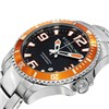 Stuhrling Gents Swiss Quartz Watch with Stainless Steel Strap with FREE 10 Slot Box Orange