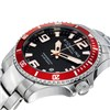 Stuhrling Gents Swiss Quartz Watch with Stainless Steel Strap with FREE 10 Slot Box Red