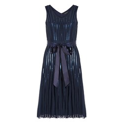 Bonmarche Sleeveless Sequin Ribbon Dress 41in