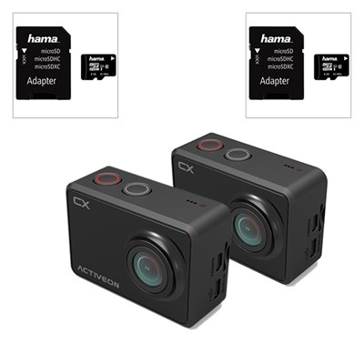 2 x Activeon HD Pocket Camera plus 2 x 8GB Micro SD Card