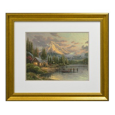 Thomas Kinkade Lakeside Hideaway Open Edition Framed Print