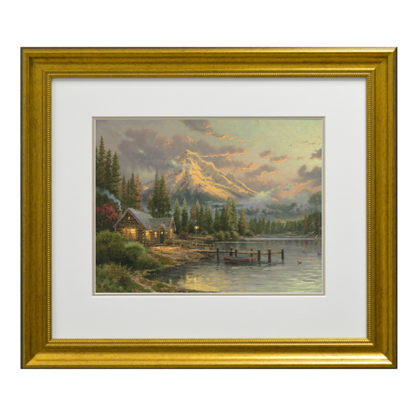 Thomas Kinkade Lakeside Hideaway Open Edition Framed Print Traditional