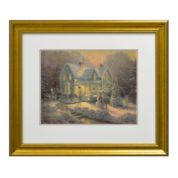 Thomas Kinkade Blessing Of Christmas Open Edition Framed Print Traditional