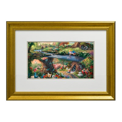 Thomas Kinkade Alice In Wonderland Open Edition Framed Print