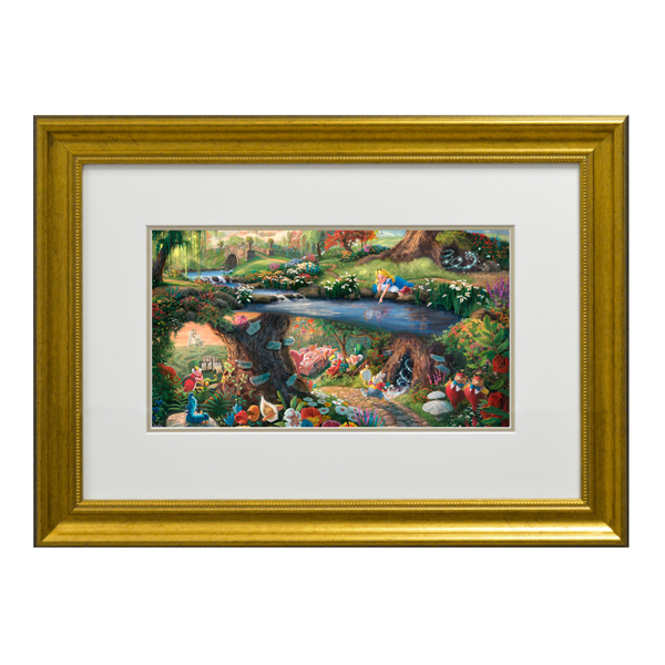 Thomas Kinkade Alice In Wonderland Open Edition Framed Print Traditional