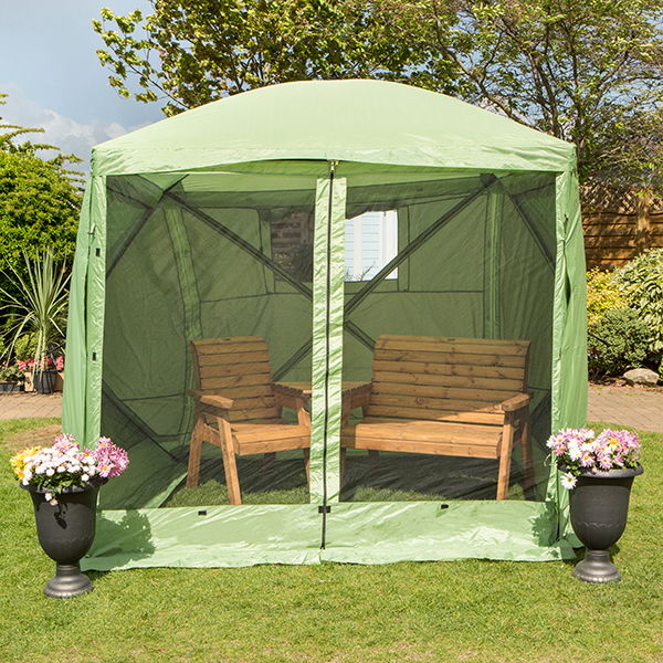 The Vista - Spring Up Instant 4 Sided Summer House Green