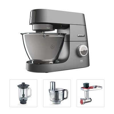 Kenwood Chef Titanium Kitchen Machine with Three Attachments