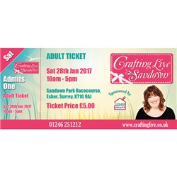 Crafting Live Sandown - Adult Ticket Saturday 28th January 2017