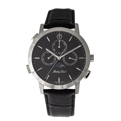 Mathey-Tissot Gents Classic Moon with Genuine Leather Strap