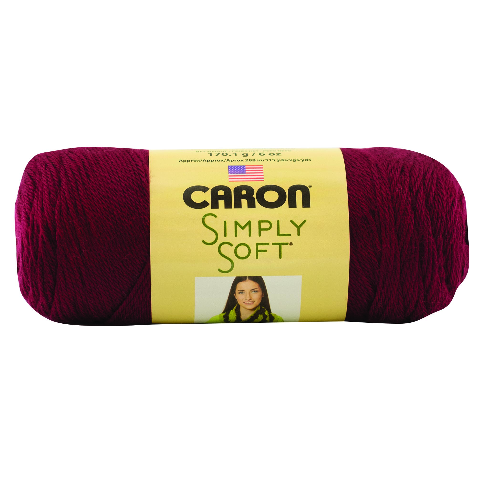 Caron Simply Soft Burgundy 3-6Oz