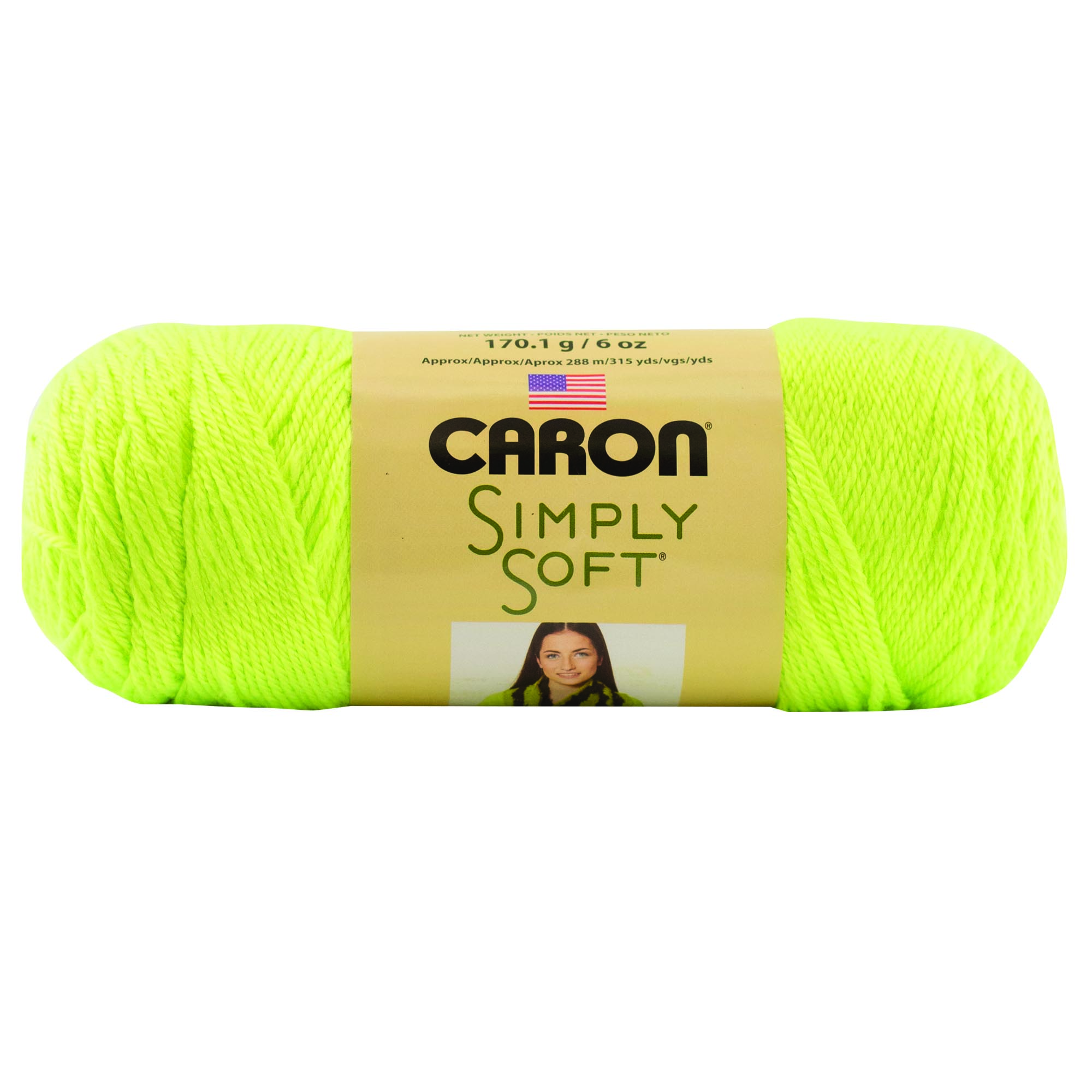 Caron Simply Soft Neon Yellow 3-6Oz