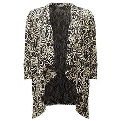 Lavitta Contrast Lace Waterfall Jacket 27.5in