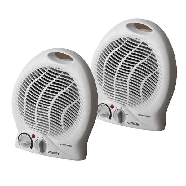 WarmLite 2000W Upright Fan Heater Twin Pack No Colour