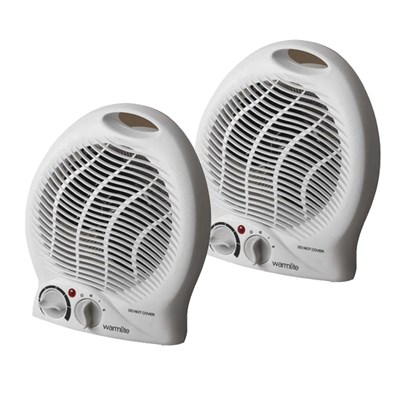 WarmLite 2000W Upright Fan Heater Twin Pack