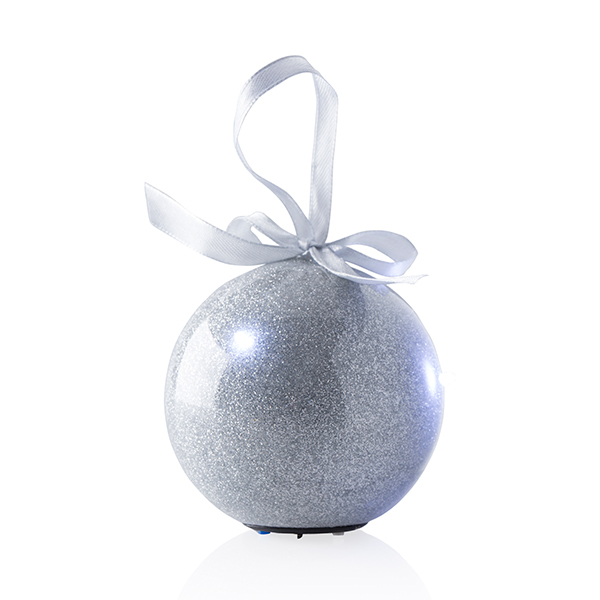 Recordable Bauble Silver Glitter