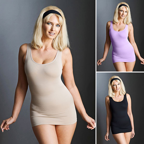 Bella Bodies 3 Pack Shaping Camyz Black/Sand/Lavender